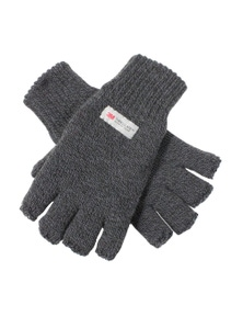 Thinsulate Knitted Fingerless Gloves Winter Warm Mens Soft Sports Insulation 3M