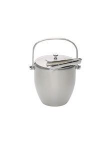 Bc Ice Bucket With Lid & Tongs Stainless Steel Gift Boxed
