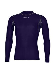 Mitre Neutron Compression Ls Top Size Ly (Aged 10-12) Navy