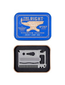 Gentlemen's Hardware Credit Card Tool (Titanium Finish)