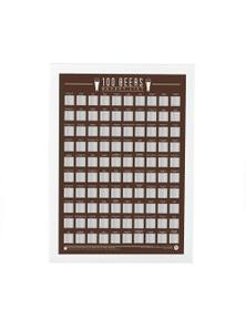 Bucket List Scratch Poster 100 World Beers