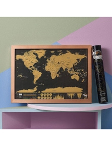 World Map Scratchie Deluxe Travel Edition