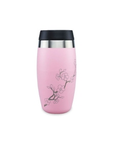 Ohelo Pink Tumbler With Etched Blossoms - 400ml