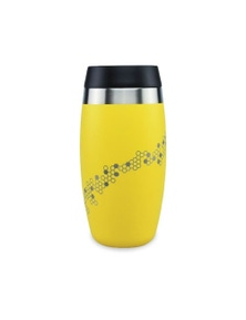 Ohelo Yellow Tumbler With Etched Bees - 400ml