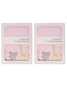 My Baby Tropicana Super Soft Cot Baby Blanket 2x