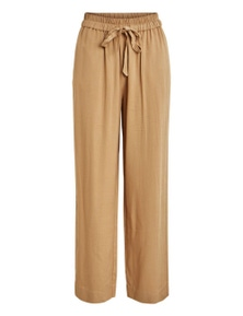 Vila Clothes Women's Trousers In Beige