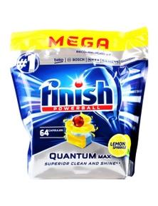 4 x 64 Pack Finish Powerball Quantum Max Dishwashing Tablets - Lemon Mega (256 Tablets)
