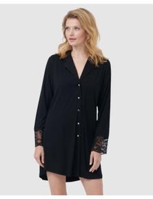 Oh!Zuza Lace Back Long Sleeve Sleepshirt