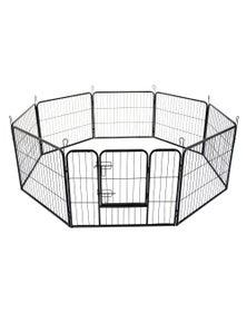 Bargene 8 Panel Pet Playpen Dog Cage Puppy Exercise Crate Enclosure Rabbit Fence