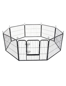 Bargene 8 Panel Pet Playpen Dog Cage Puppy Exercise Crate Enclosure Rabbit Fence