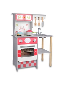 Bargene Kids Wooden Kitchen Pretend Play Set Toy Toddlers Children Cooking Home Cookware
