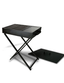 Bargene Large Ourdoor Portable Foldable Folding Charcoal Bbq Grill Camping Picnic W/ Lid