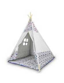 Bargene Cotton Canvas Kids Teepee Children Home Pretend Play Tent Indoor Outdoor Party