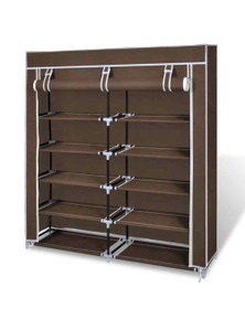 Bargene 2 Doors With Cover Portable Storage Shoe Rack Cabinet Wardrobe