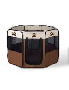 Bargene 8 Panel Portable Puppy Dog Pet Exercise Playpen Crate