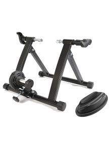 Bargene Indoor Bicycle Trainer Home Gym Exercise Foldable Parabolic Bike Training Stand W/ Support