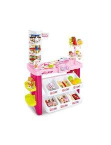 Bargene Kids Supermarket Pretend Play Ice Cream Dessert Toys Set Scanner Cash Register