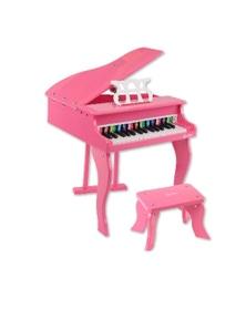 Bargene Kids Wooden Pretend Musical Toy Baby Children Grand Toy Mini Piano