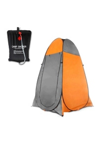 Bargene Pop Up Portable Privacy Shower Room Tent Outdoor Camping Water Bag Camp Set