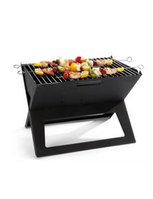 Bargene Portable Notebook Grill Foldable Folding Charcoal Bbq Camping Picnic Barbecue