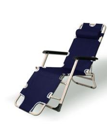 Bargene Reclining Sun Beach Deck Lounge Chair Outdoor Folding Camping Fishing Arm Rest