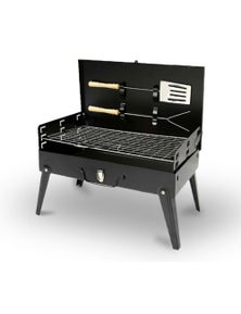 Bargene Charcoal Bbq Grill Hibachi Barbecue Portable Folding Steel Roast Camping Picnic
