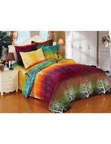 Fabric Fantastic Rainbow Tree Quilt Cover Set