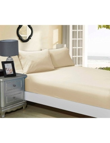 Fabric Fantastic 1000TC Ultra Soft Fitted Sheet & 2 Pillowcases Set