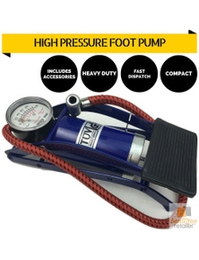 HIGH PRESSURE FOOT PUMP Ball Bicycle Motorbike Car Tire Inflator Tyre Air New