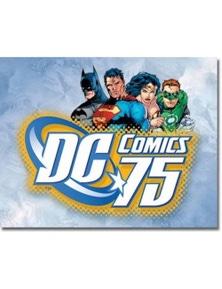 DC Comics 75Retro Tin Sign