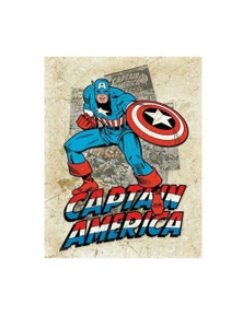Captain America Cover Splash Tin Sign