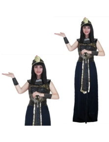 Ladies Deluxe Egyptian Queen Costume Cleopatra Ancient Roman Egypt Goddess Party