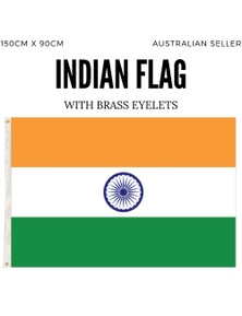 INDIA Flag Indian Heavy Duty National Cricket Diwali Divali 150cm x 90cm