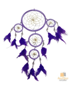 DREAM CATCHER with Beads Beautiful Natural Feathers 45cm Native American New