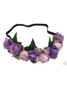 FLOWER HEADBAND Fairy Bohemian Boho Wedding Floral Headwrap Elasticized Garland