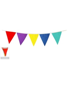 10m BUNTING FLAG Colourful Triangle Party Banner Birthday Wedding Flags Outdoor