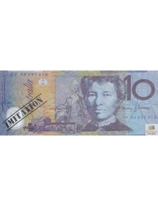 SOUVENIR NOTE PAD Children's Kids Toy Fake Pretend Play Australian Dollar Money