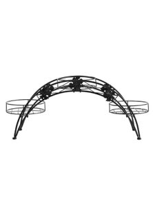 Levede Black Arch Shape Metal Plant Stand with 3 Plant Pot Space
