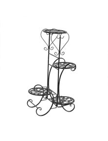 Levede Flower Shape Metal Plant Stand with 4 Plant Pot Space