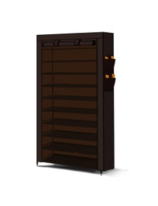 10 Tier Portable Shoe Rack With Cover