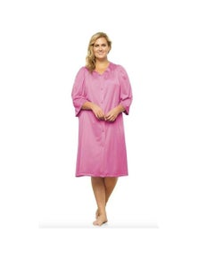 Exquisite Form Button-Front Knee Length Robe