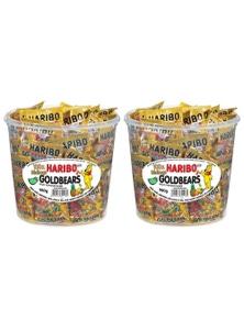 Haribo Goldbears Mini Bags Bucket 980g Candy 2x 100PK