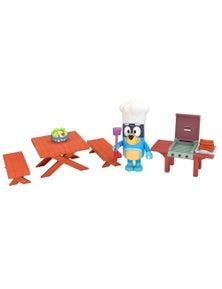 Bluey Series 3 Mini Play Set - Family Backyard Bbq W/Dad (Bandit)