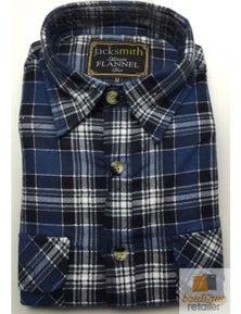 Men's FLANNELETTE SHIRT Check 100% COTTON Flannel Vintage Long Sleeve S-6XL New