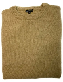 100% SHETLAND WOOL CREW Round Neck Knit JUMPER Pullover Mens Sweater Knitted New