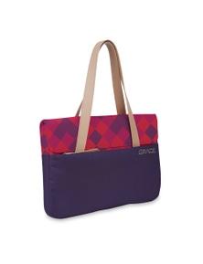STM Grace Deluxe 13 In Laptop Sleeve Tote Bag - Purple Diamonds