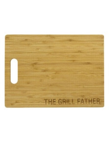Say What Bamboo Cutting Board - Grill Father