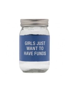 Say What Fund$ Glass Jar Money Bank