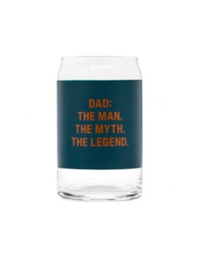 Say What Dad the Legend Beer Can Glass