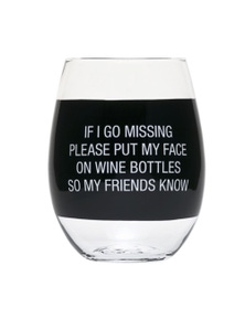 Say What My Face On Wine Bottles Wine Glass